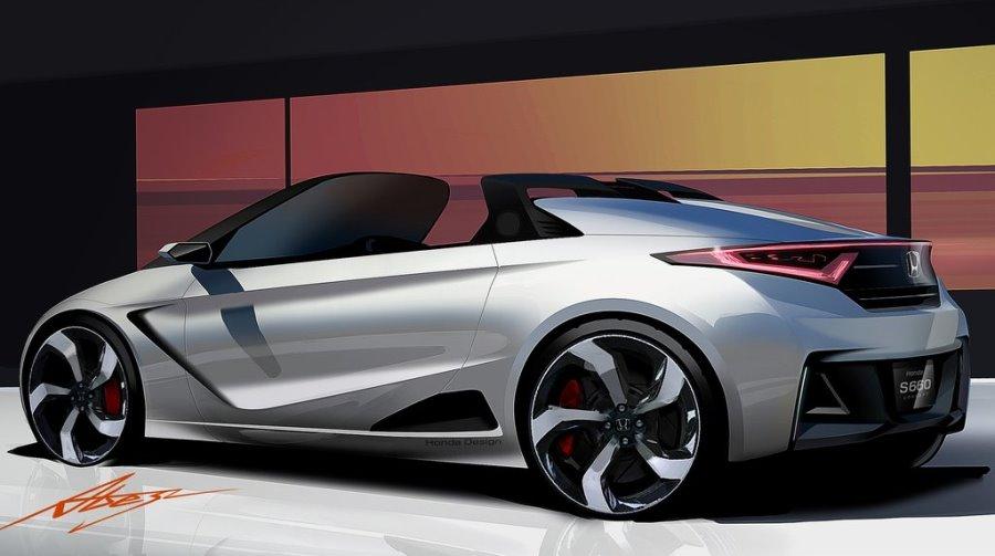 фото концепта Honda S660 сбоку
