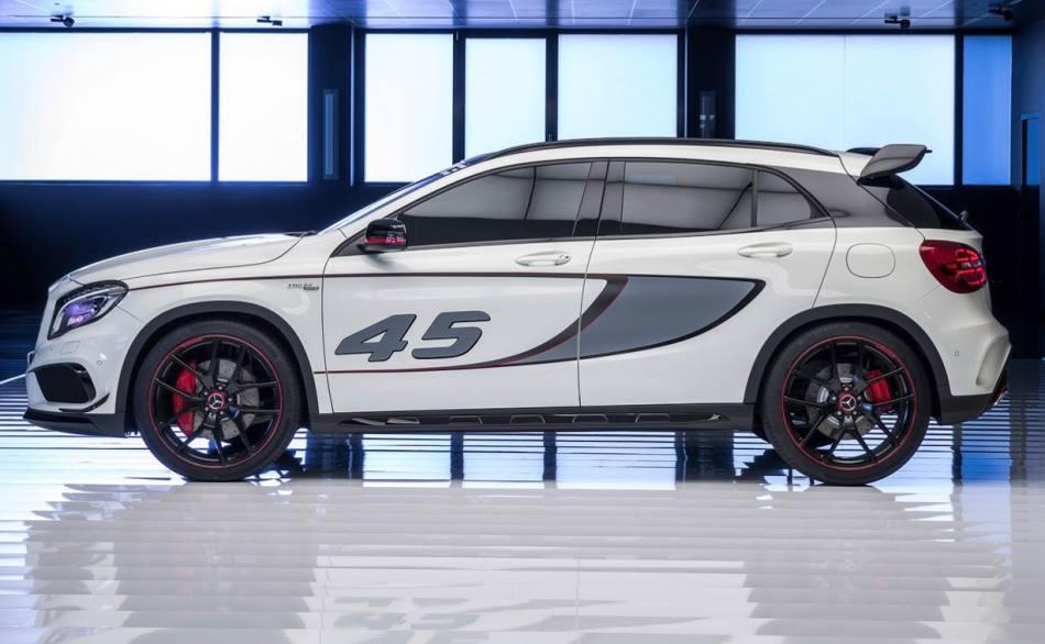 фото концепта Mercedes GLA 45 AMG 2014 сбоку