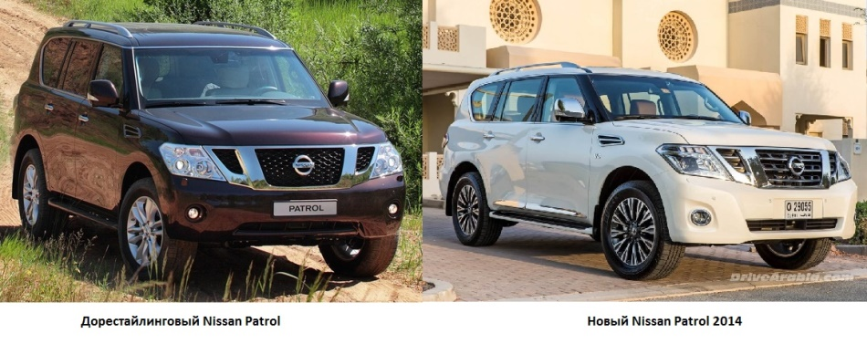 изменения Nissan Patrol 2014