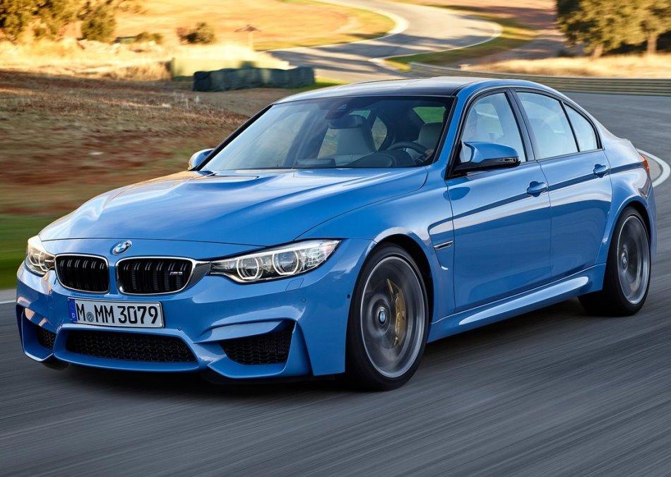 бампер и фары седана BMW M3 2015