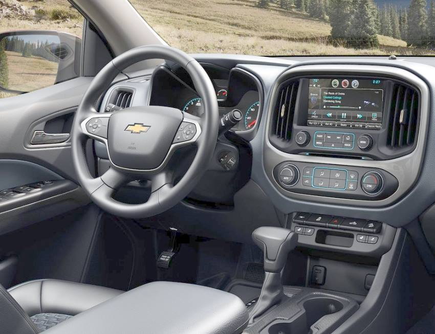 салон пикапа Chevrolet Colorado 2014