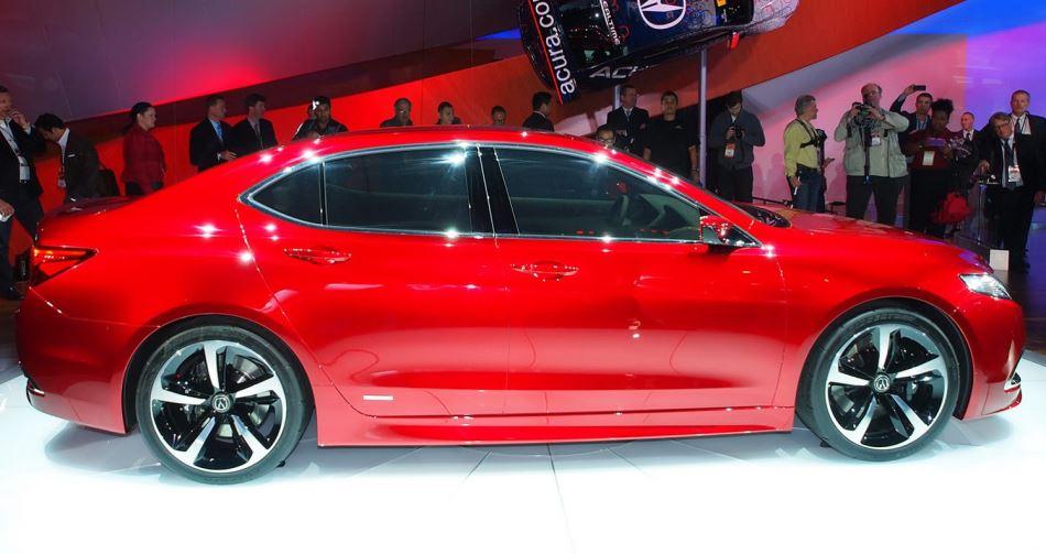 Acura TLX Concept сбоку