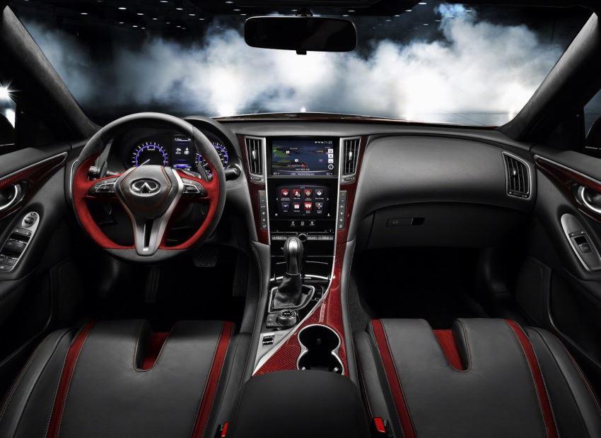 салон Infiniti Q50 Eau Rouge Concept 2014