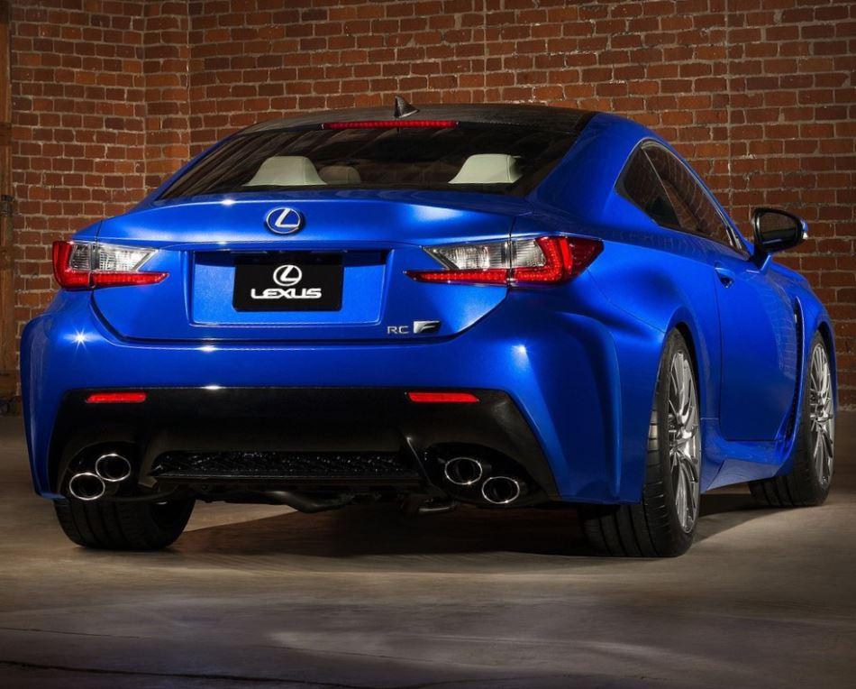 задняя часть Lexus RC F 2015