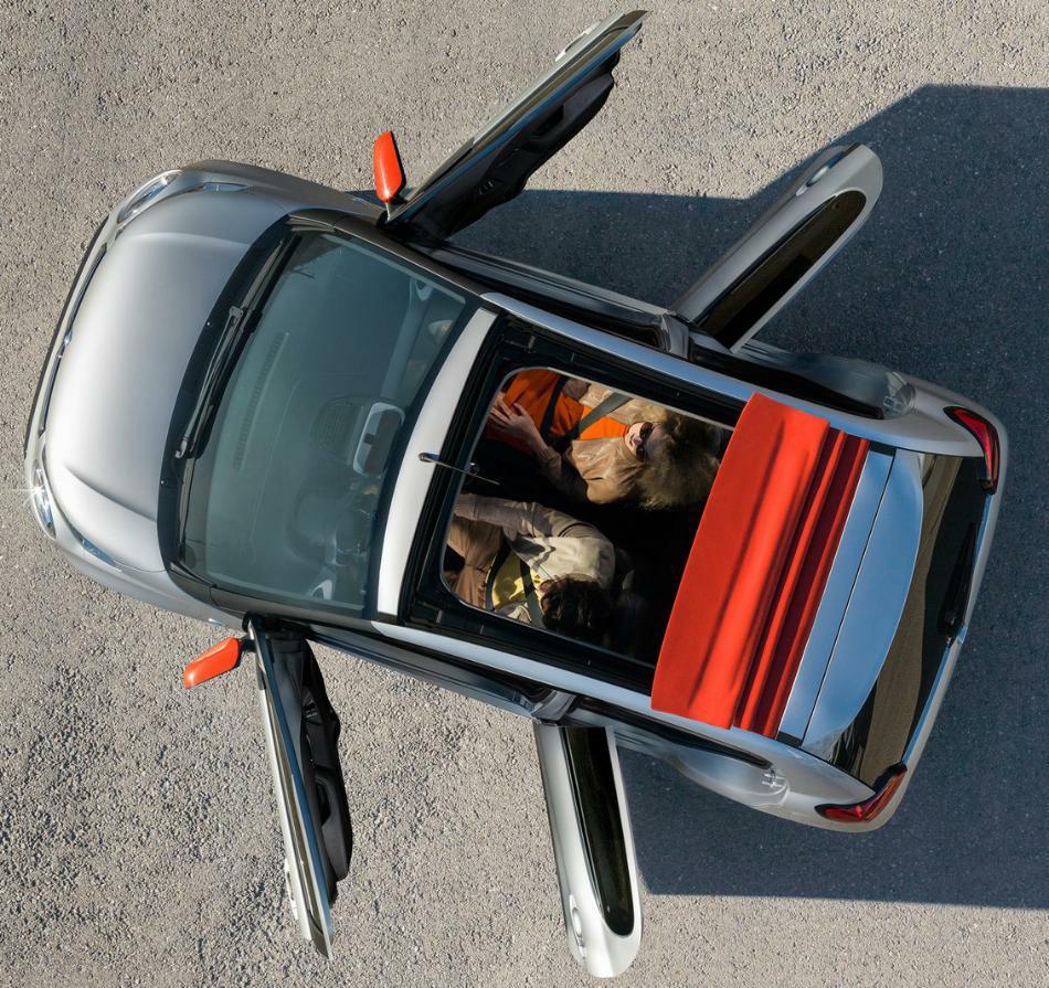 новый Citroen C1 2015 сверху