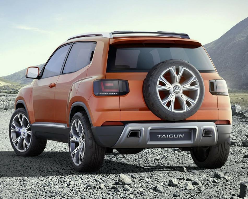 задняя часть Volkswagen Taigun 2014