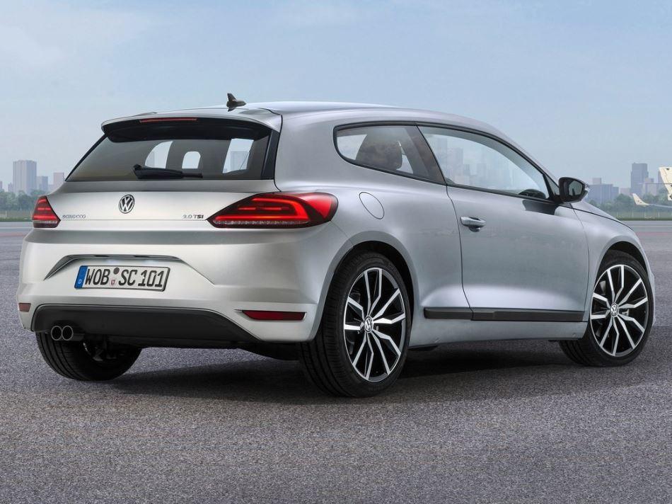 задняя часть Volkswagen Scirocco 2015