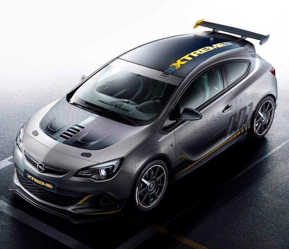 Opel Astra OPC Extreme сверху