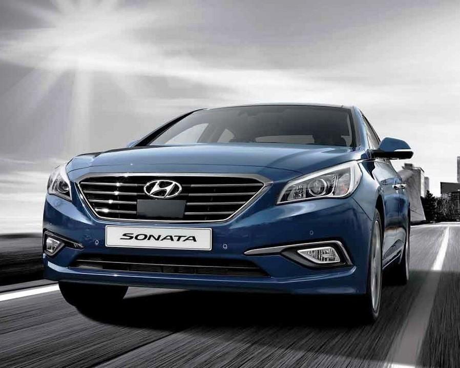 бампер и фары Hyundai Sonata 2015