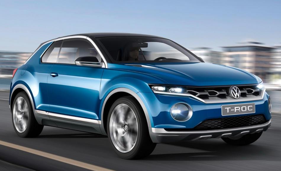 фары и бампер концепта Volkswagen T-Roc