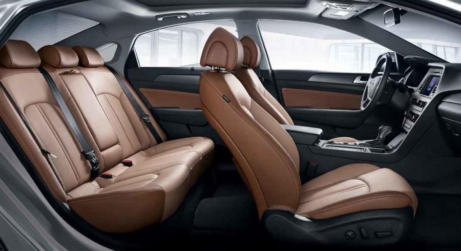 интерьер Hyundai Sonata 2015