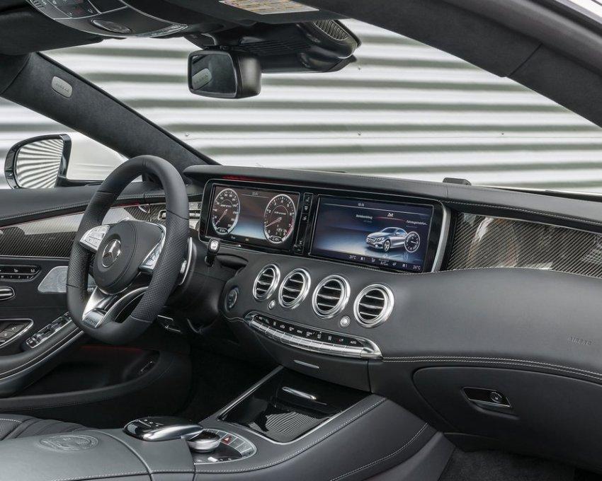 интерьер Мерседес S63 AMG Coupe 2015