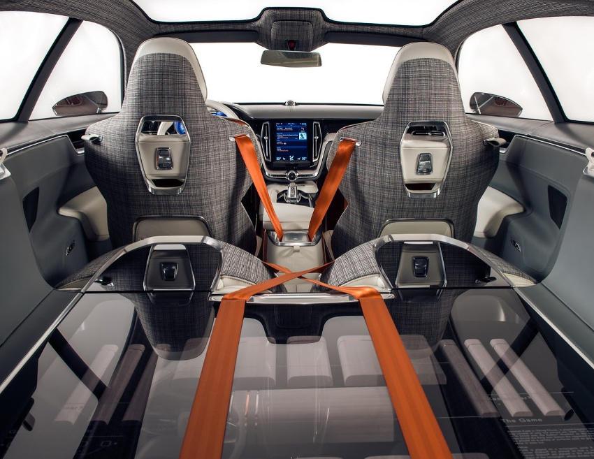 интерьер концепта Volvo Estate