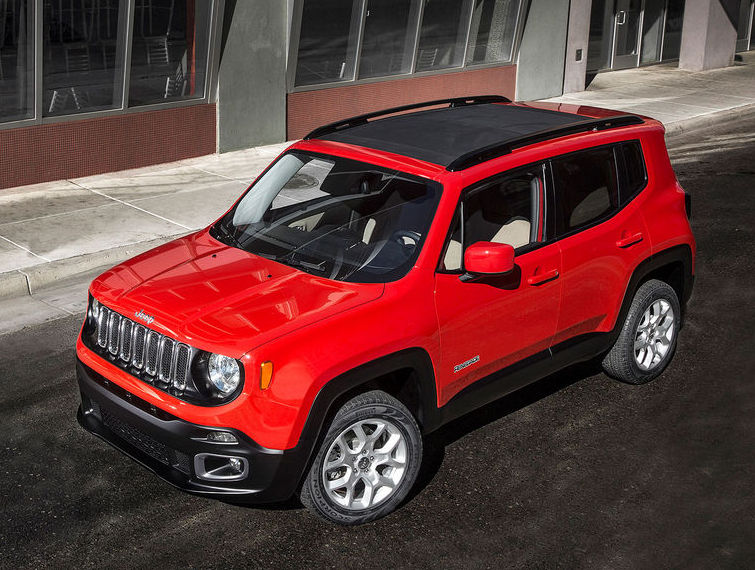 капот и фары Jeep Renegade 2015