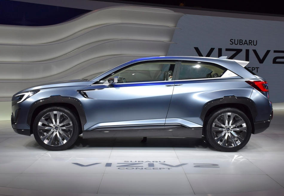 концепт Subaru VIZIV-2 сбоку