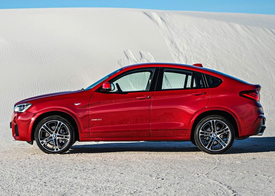 новый BMW X4 2015 сбоку
