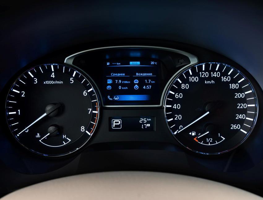 панель приборов Nissan Teana 2014