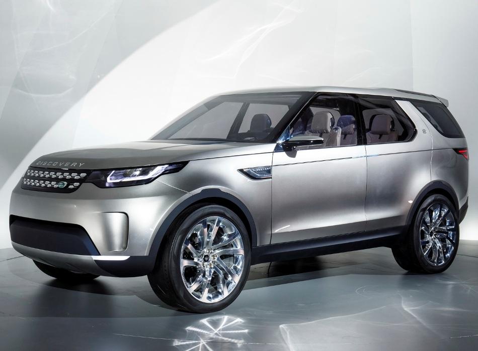 Концепт Land Rover Discovery Vision сбоку