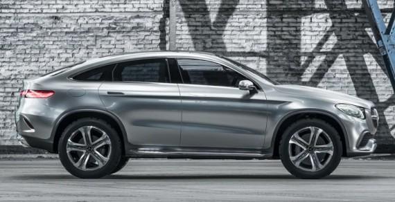 Мерседес Купе SUV Concept 2014 сбоку