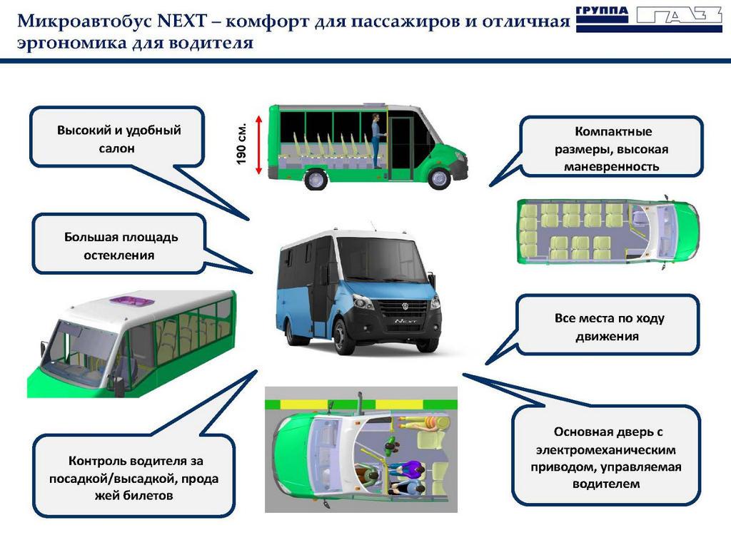 достоинства Газель Next Автобус 2019