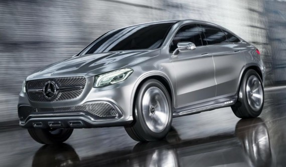 фары и бампер Mercedes Coupe SUV Concept 2014