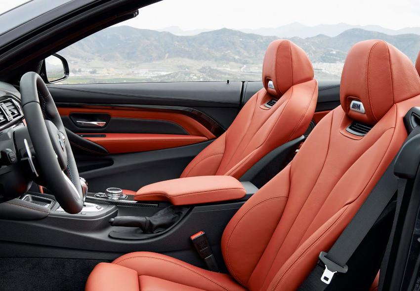 интерьер BMW M4 Кабриолет 2015