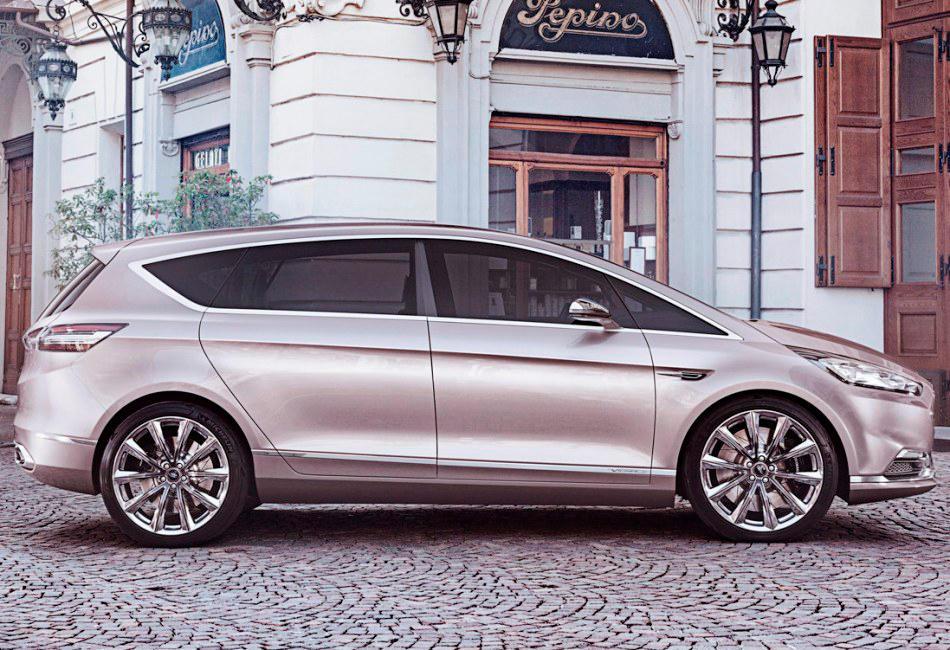 новый концепт Ford S-Max Vignale 2014 сбоку