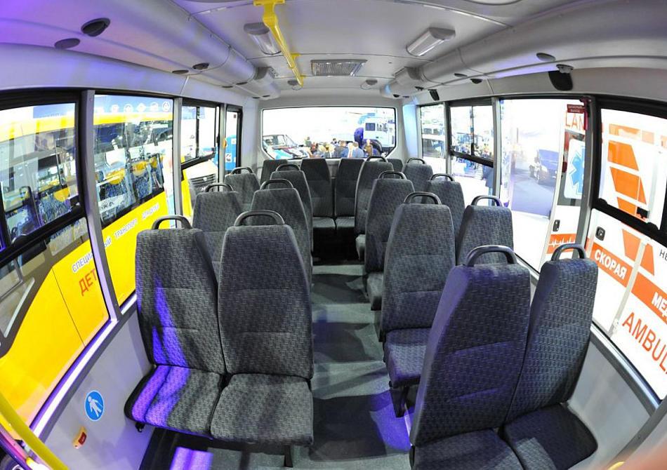 салон автобуса Газель Некст 2014