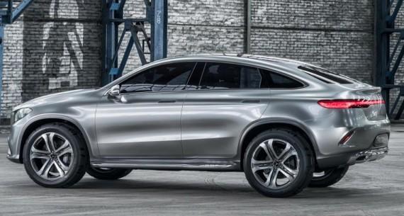 задняя часть Mercedes Coupe SUV Concept 2014