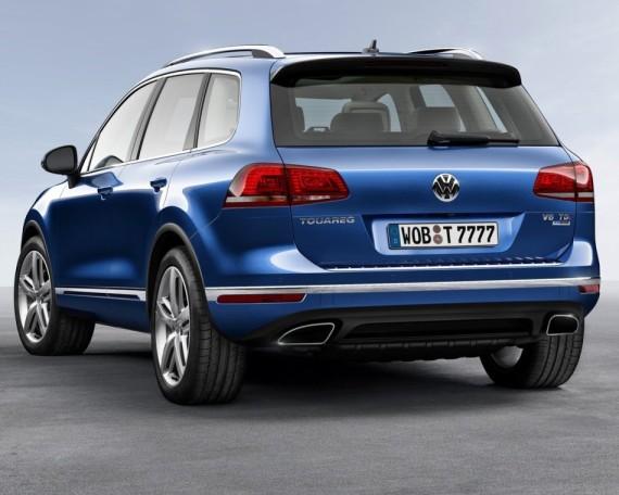 задняя часть Volkswagen Туарег 2015