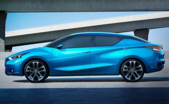 концепт Nissan Lannia 2014 сбоку