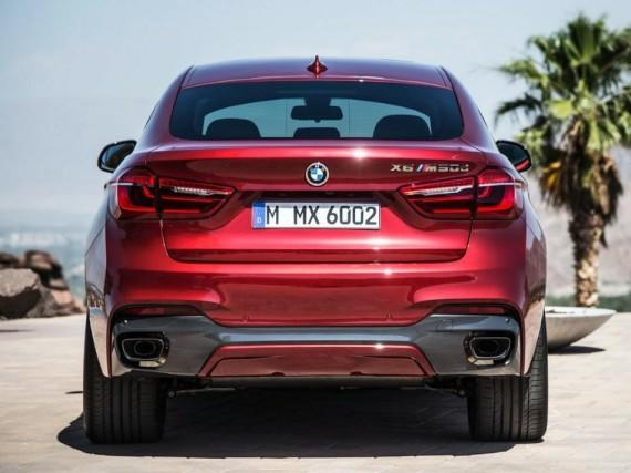 задние фонари нового BMW X6 2015