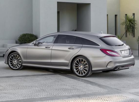 задняя часть универсала Mercedes CLS 2015
