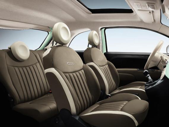 интерьер Fiat 500 2015