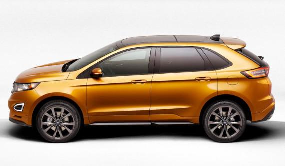 новый Ford Edge 2015 сбоку
