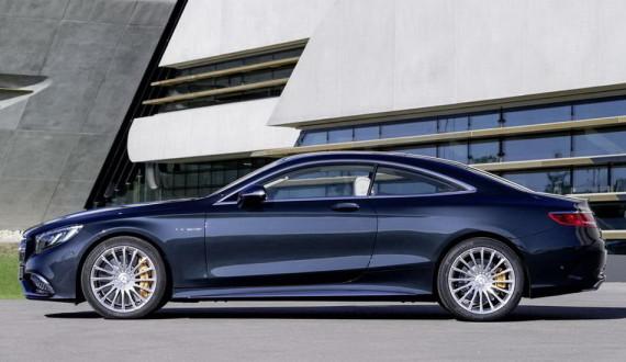 новый Мерседес S65 AMG Coupe 2015 сбоку