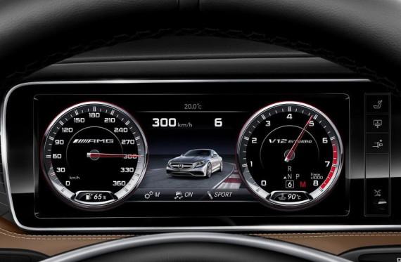 панель приборов Mercedes S65 AMG Coupe 2015