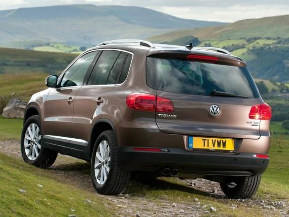 задняя часть Volkswagen Tiguan 2014