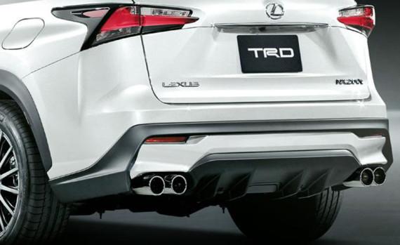 выхлопная система Lexus NX 2015 от TRD