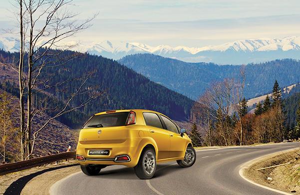 задняя часть Fiat Punto Evo 2015