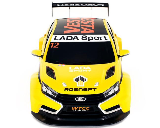 капот Lada Vesta WTCC Роснефть