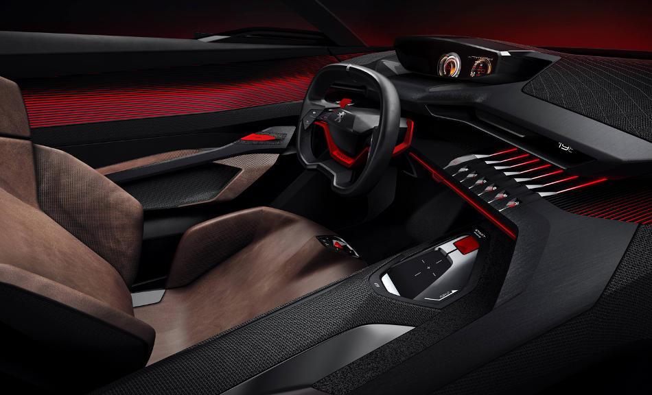салон концепта Peugeot Quartz 2014
