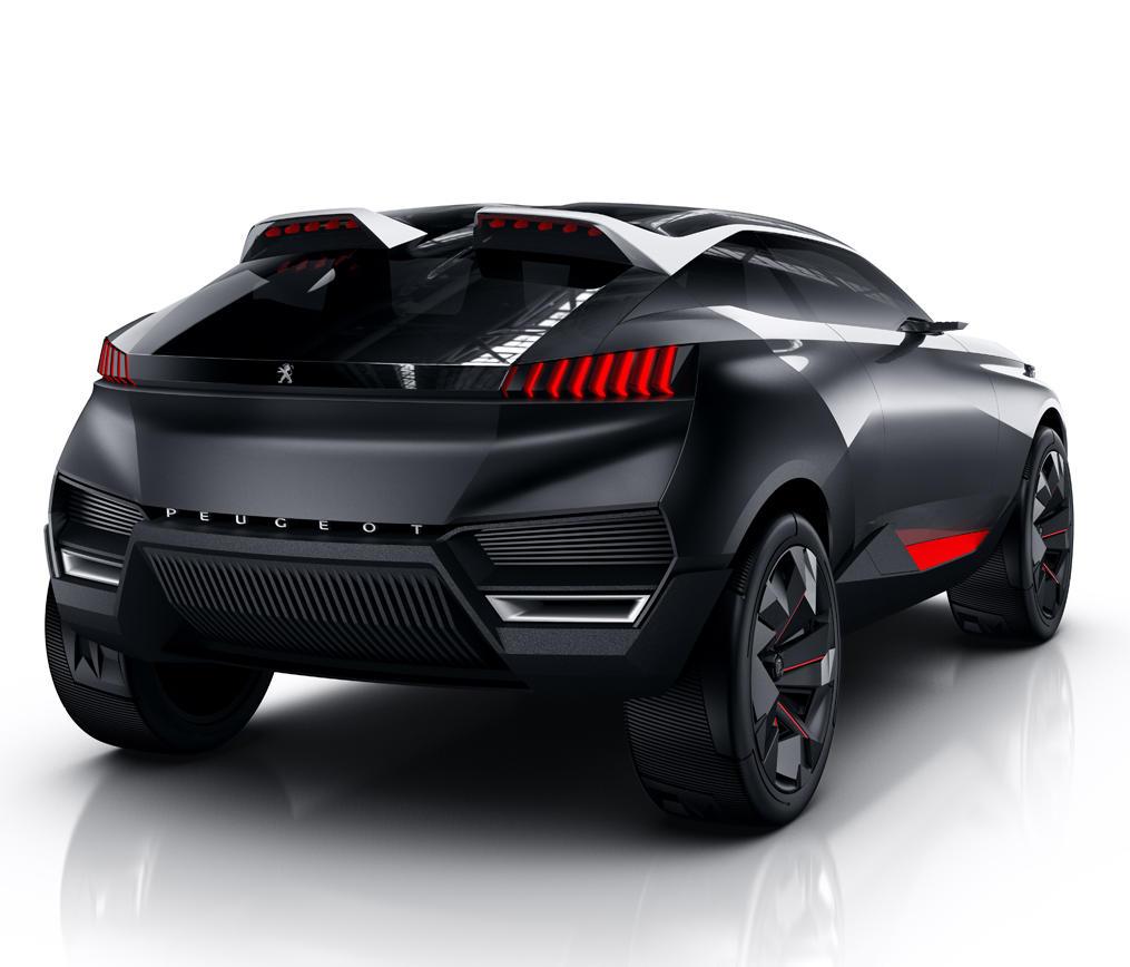 задняя часть Peugeot Quartz 2014