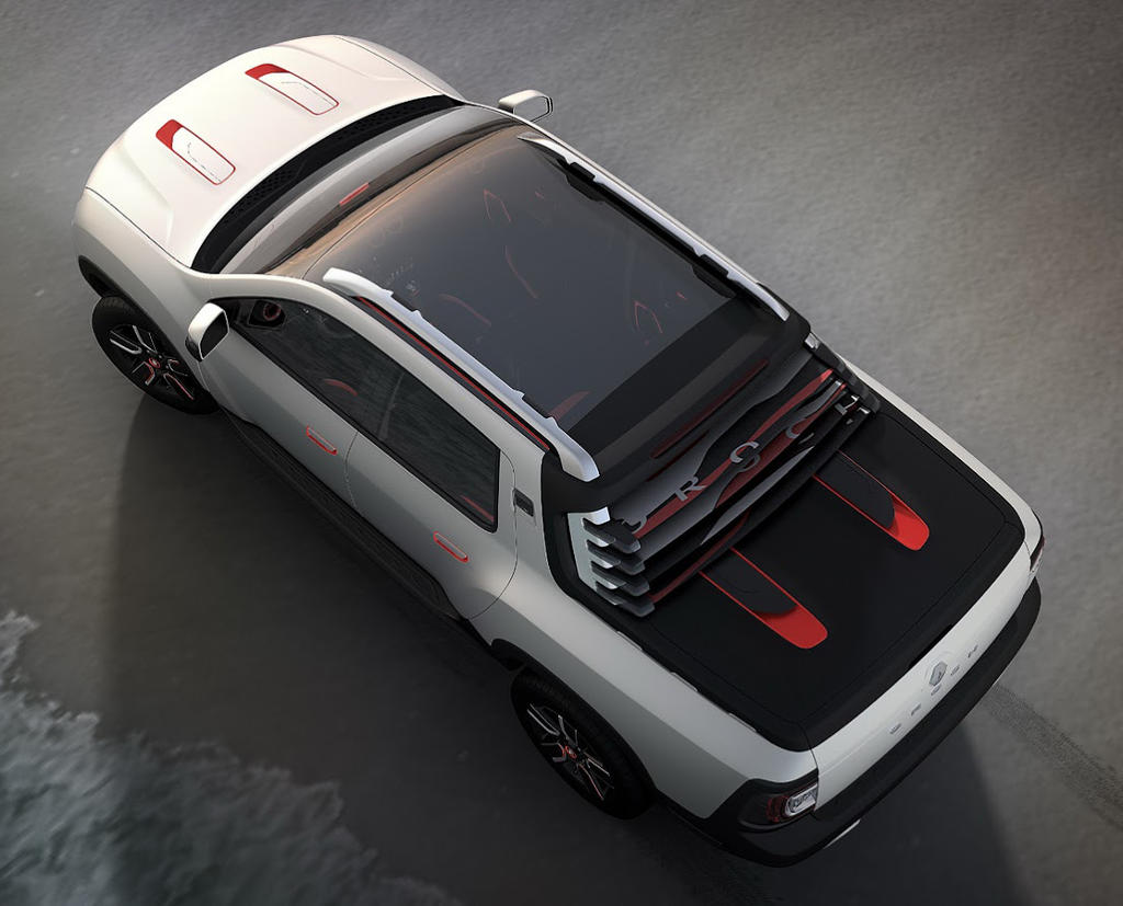 Renault Duster Oroch 2014 сверху
