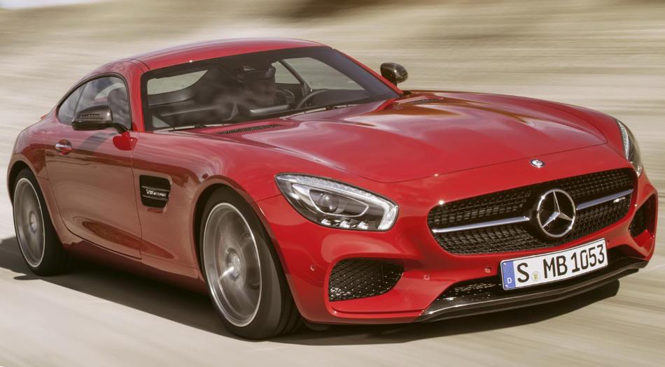 красный Mercedes-AMG GT 2015
