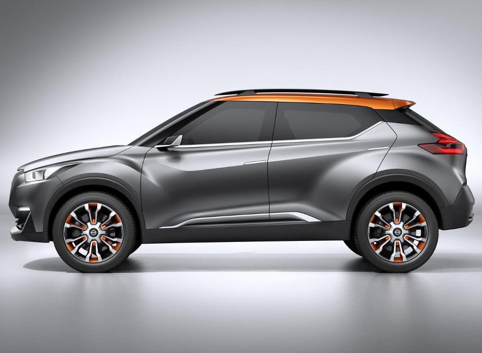 новый концепт Nissan Kicks сбоку