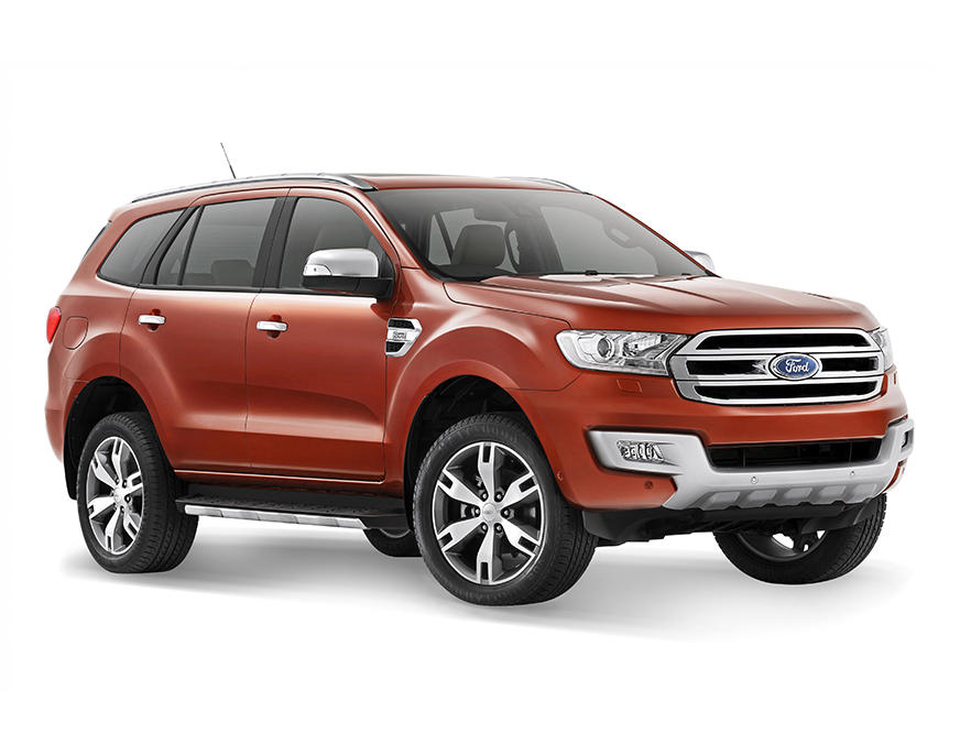 бампер и фары Ford Everest 2016