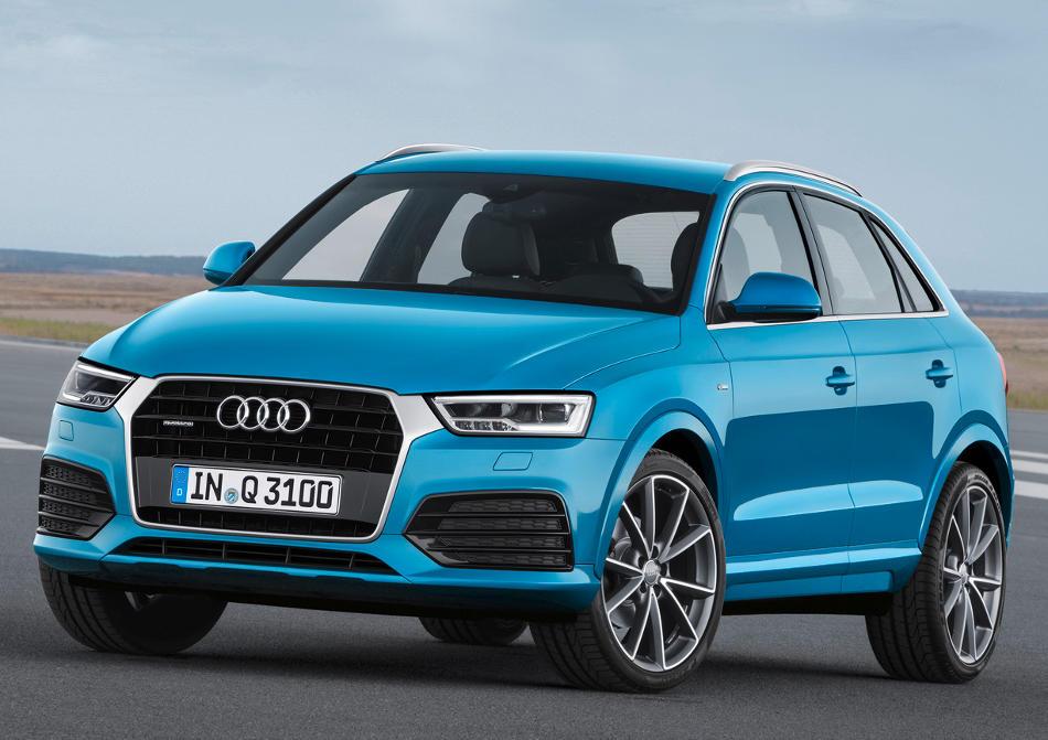 фары и бампер нового Audi Q3 2015