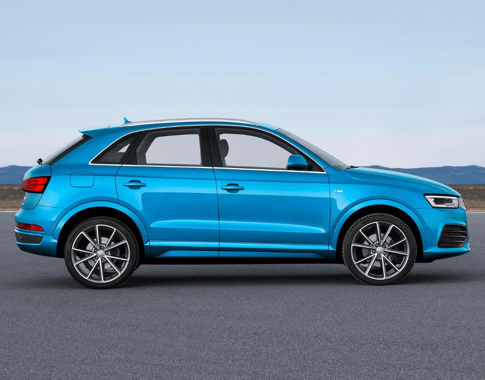 новый Audi Q3 2015 сбоку