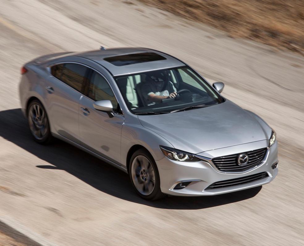 новый Mazda 6 2015 - 2016 сверху